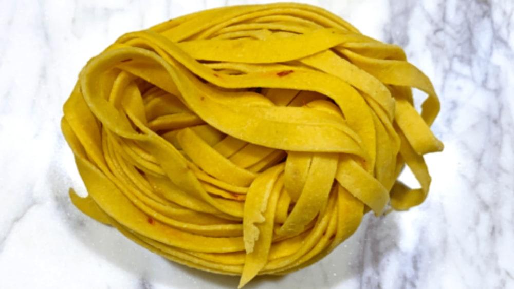 Image of Homemade Saffron Pasta Dough