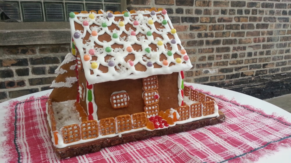 Image of Saffron Holiday Gingerbread House