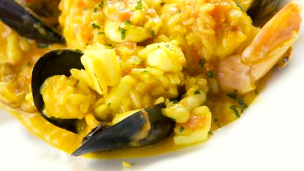 Image of Easy Saffron Seafood Risotto