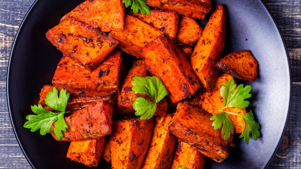 Image of Roasted Berbere Sweet Potatoes