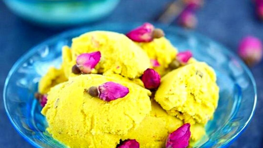 Image of Persian Saffron Pistachio Ice Cream