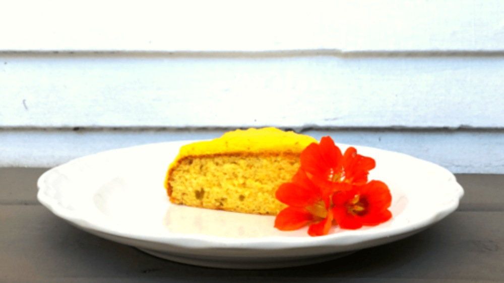 Image of Orange Olive Oil Cake with Saffron Whipped Cream