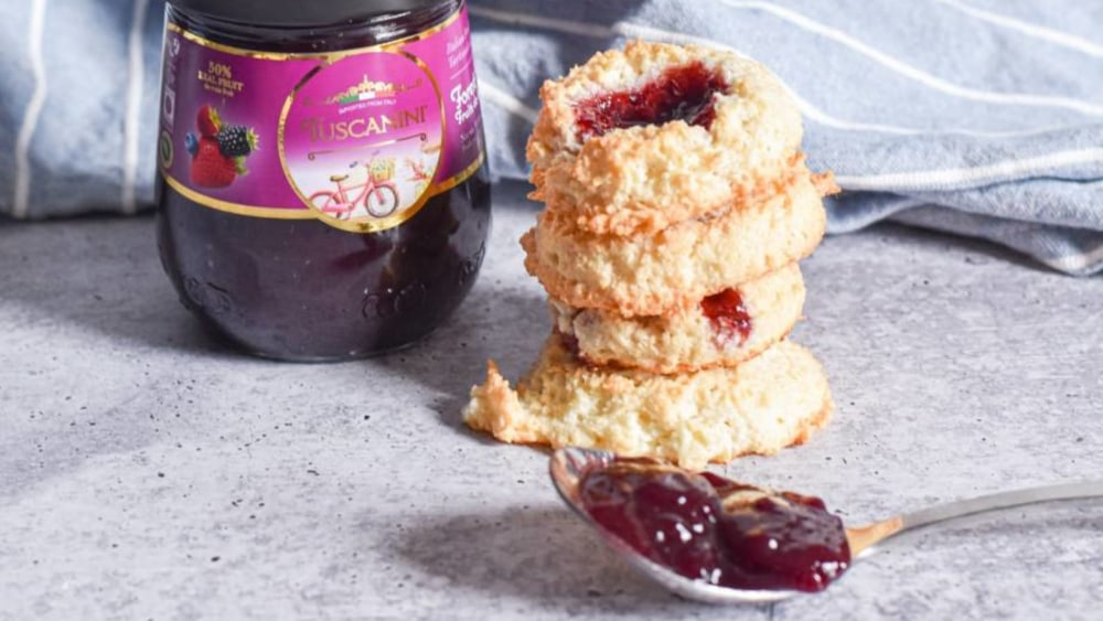 Image of Berry Thumbprint Macaroons