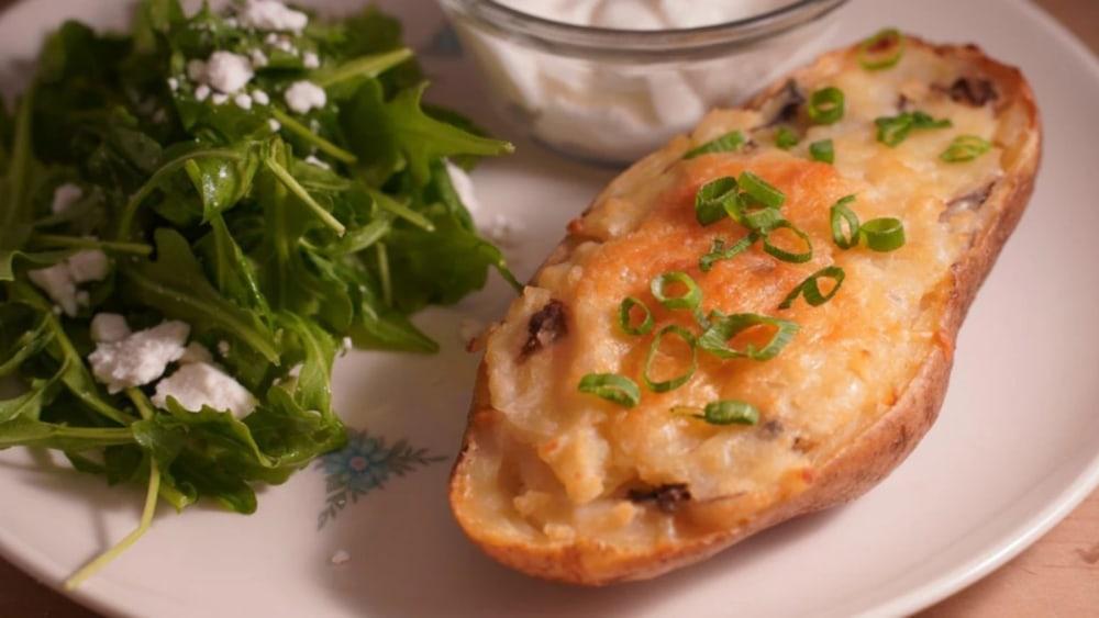 Image of Cheesy Garlic-Dulse Twice-Baked Potato Recipe