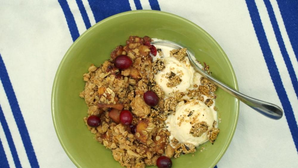 Image of Ginger-Kelp and Cranberry Apple Crisp Recipe