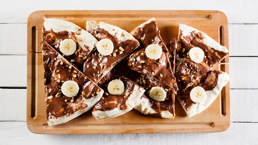 Image of Quick Fix: Peanut Butter Banana Pizza!