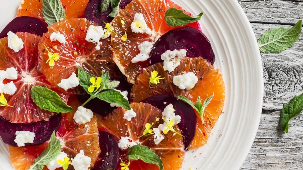 Image of Seasonal Beet and Blood Orange Salad Recipe