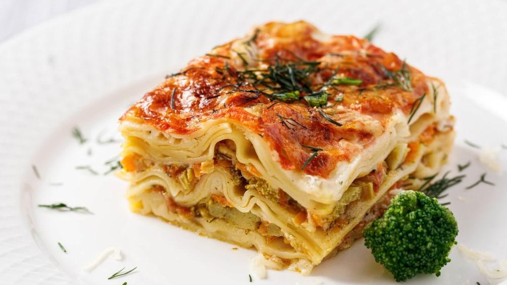Image of Vegetarian White Sauce Spinach Lasagna Recipe