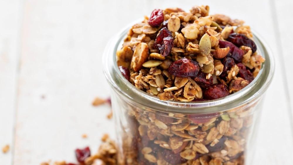 Image of Fall Harvest Pumpkin & Cranberry Granola Recipe
