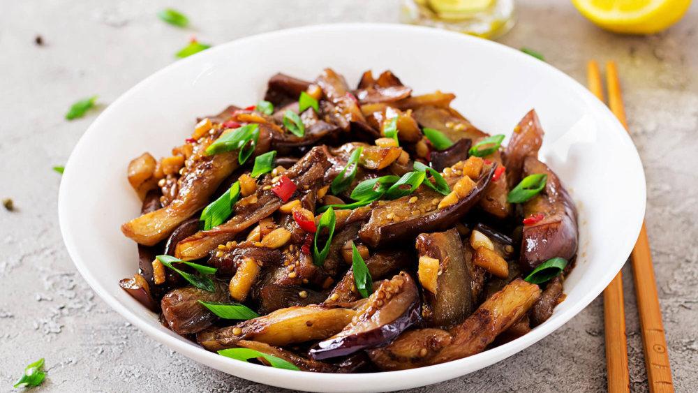 Image of Eggplant Stir Fry with Forbidden Rice | Vegan Recipe
