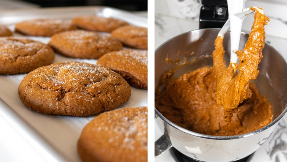 Image of Protein-Packed Soft & Buttery Molasses Cookies (Plant-Based)