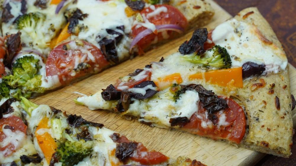 Image of Sea Veggie Pizza Recipe