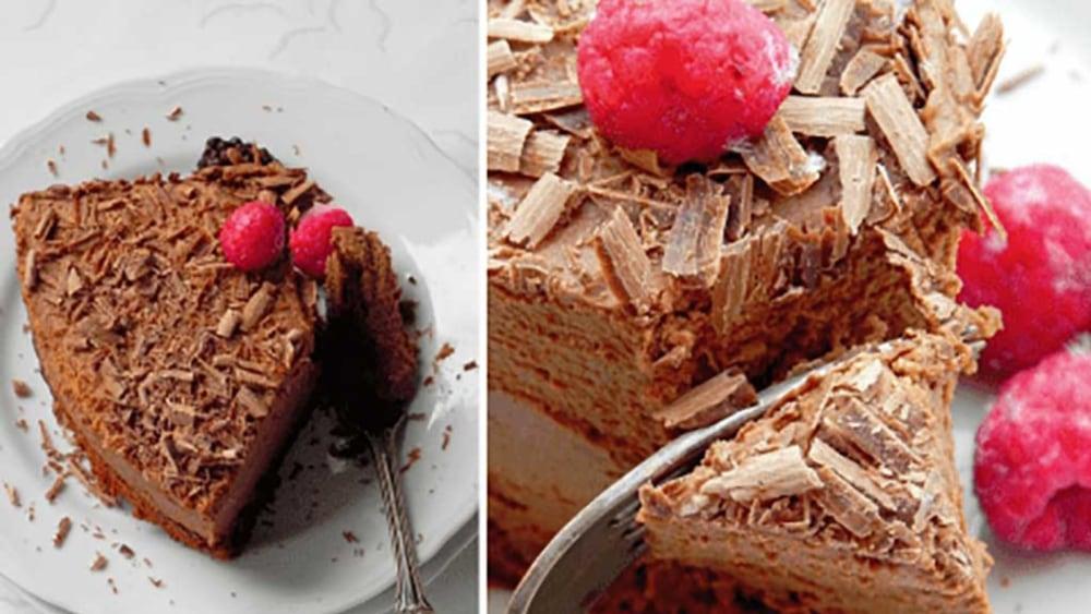 Image of Gateau mousse au chocolat suprême, la recette.