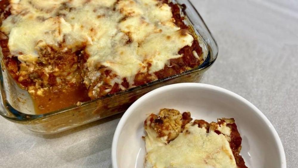 Image of Three-Cheese Cauliflower Lasagna
