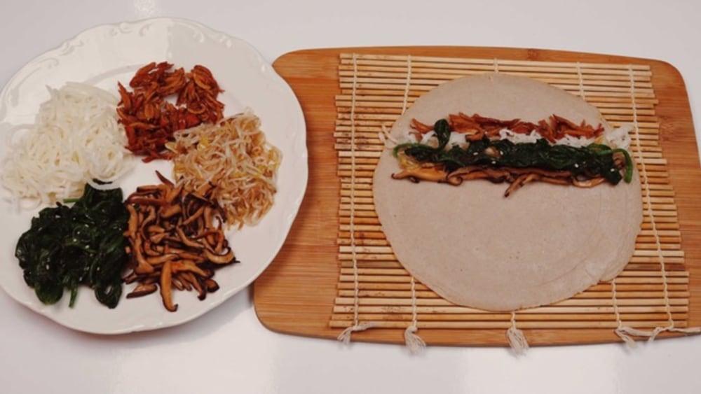 Image of Korean Buckwheat Flour Pancake Rolls