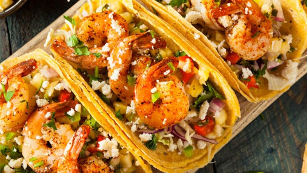 Grilled Voodoo Cajun Shrimp Tacos