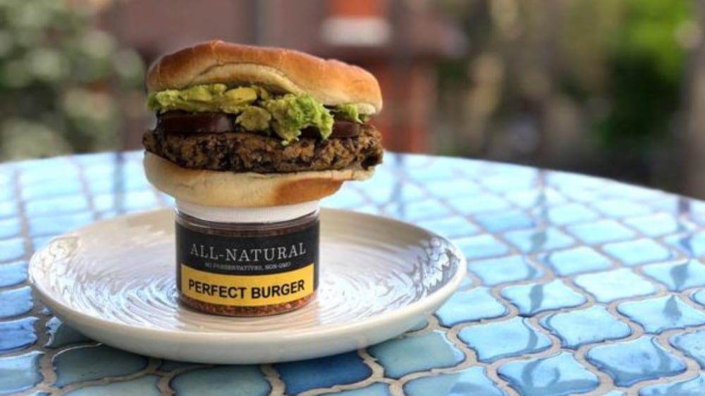 Black Bean Burger With Perfect Burger Seasoning
