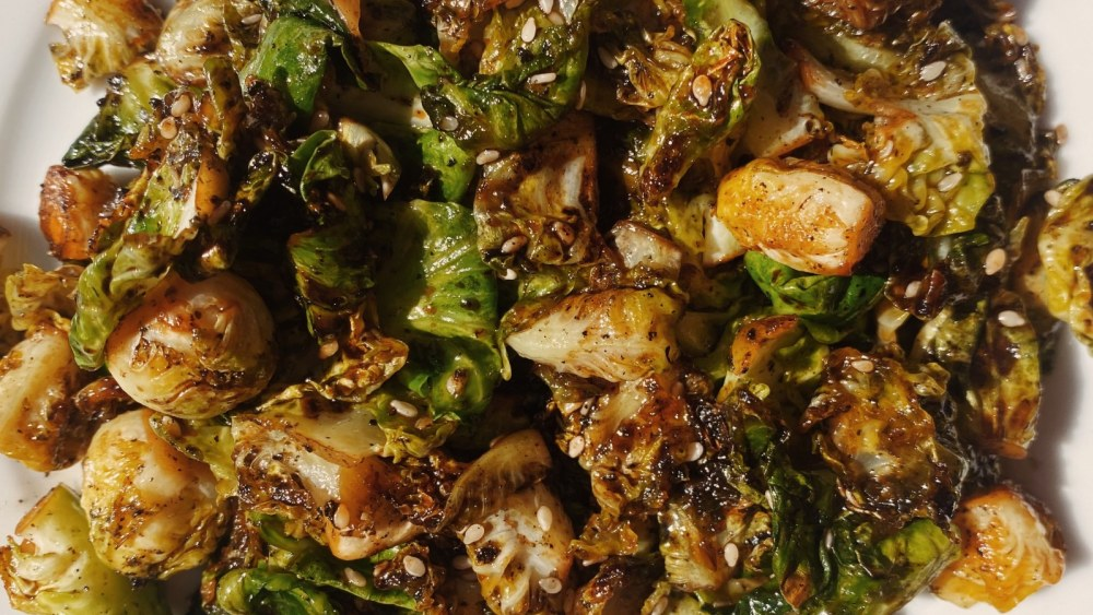 Image of Pan Fried Brussels Sprouts with Black Sesame | 黑芝麻香炒孢子甘蓝