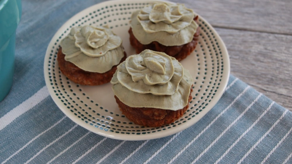 Image of Protein Brownies With Matcha Frosting
