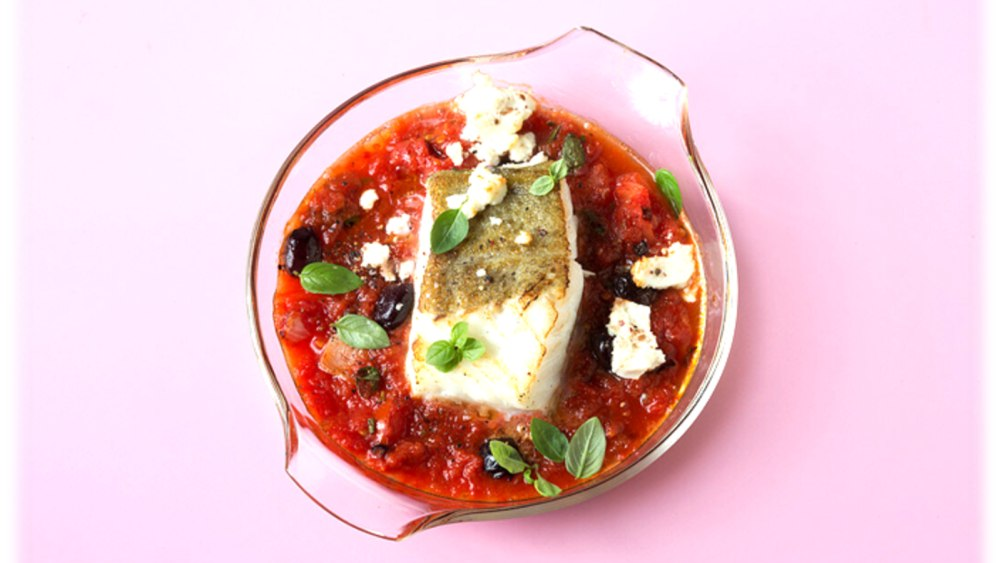 Image of Cod Fish with Tomato Sauce