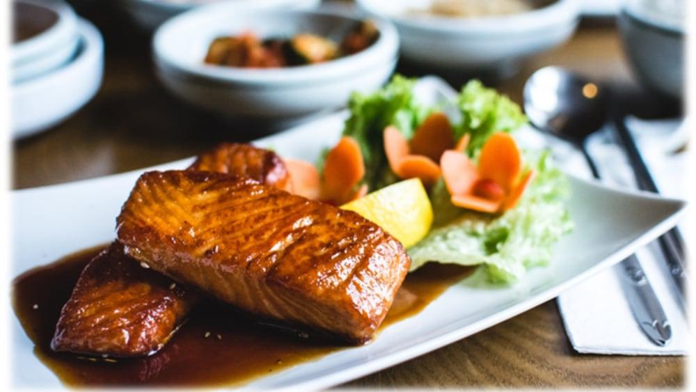 Image of Pan-Fried Salmon with Orange Sauce