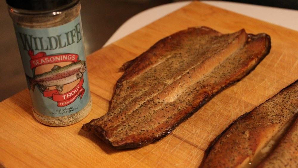 Smoked trout cooked with Wildlife Seasonings Trout Freshwater Blend