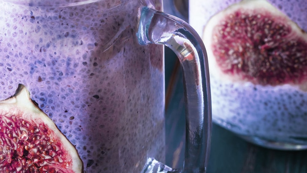 Image of HASKAPA CHIA PUDDING WITH SLICED FIGS