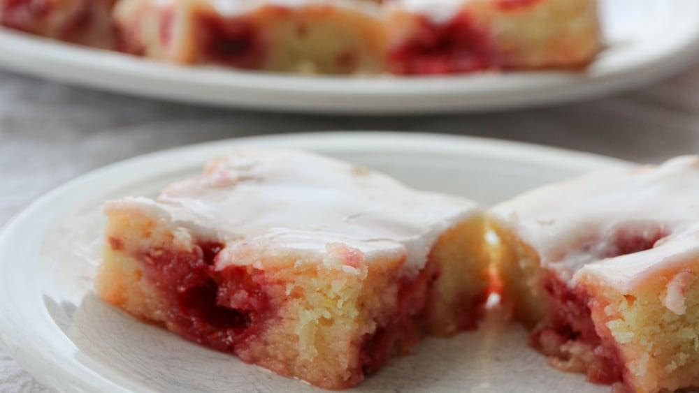 Image of Gluten Free Lemon-Raspberry Squares