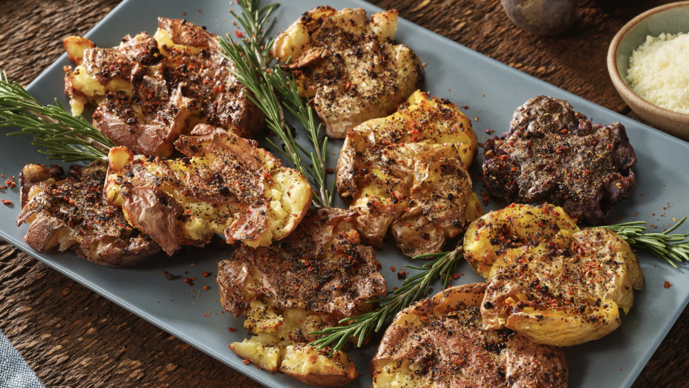 Image of Smashed Air-Fried Potatoes
