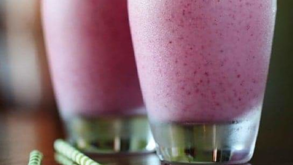 Image of HASKAP, PEAR AND RASPBERRY SMOOTHIE