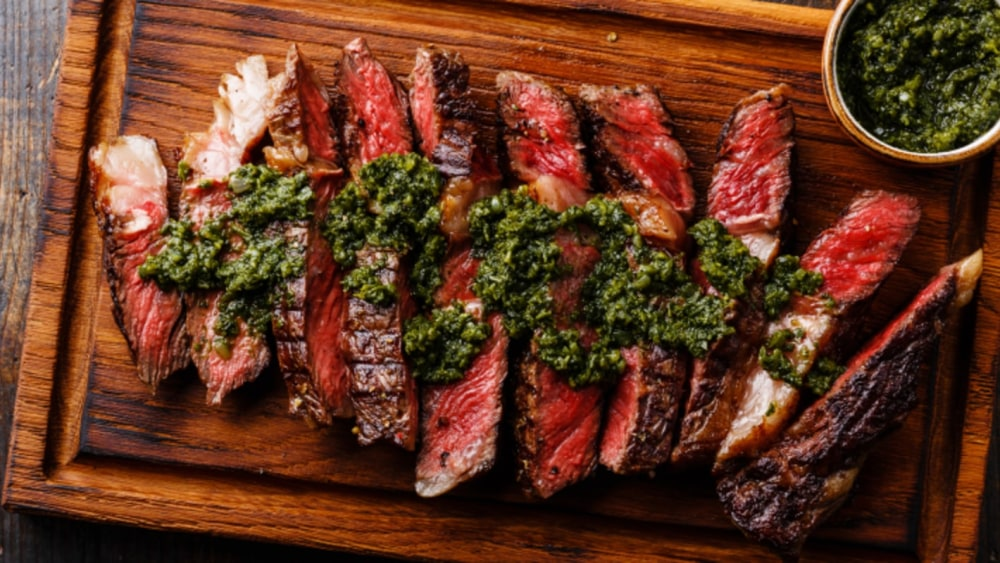 Image of Rib-Eye Steak with Pistachio Butter