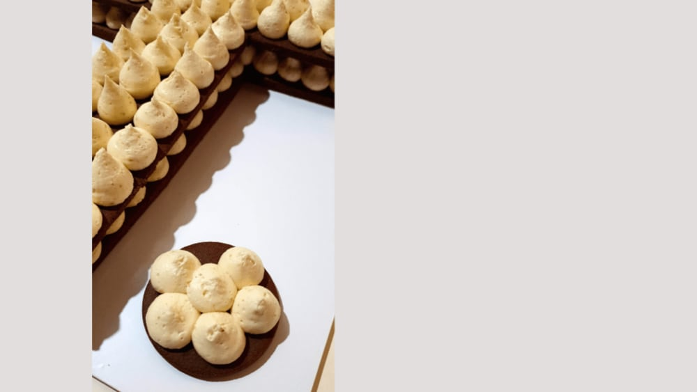 Image of Letter T Chocolate Cookies With Caramel Fudge Buttercream