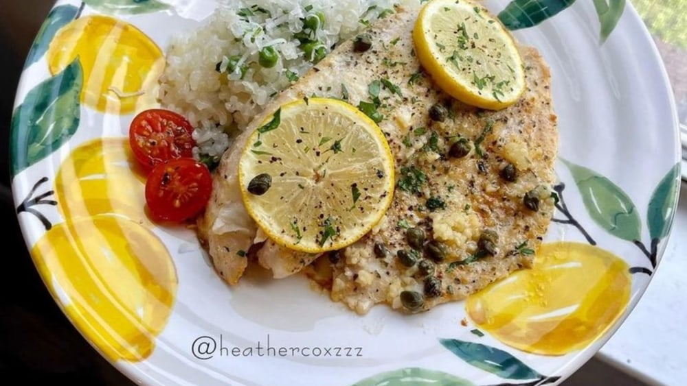 Lemon Garlic Tilapia Shirataki Rice