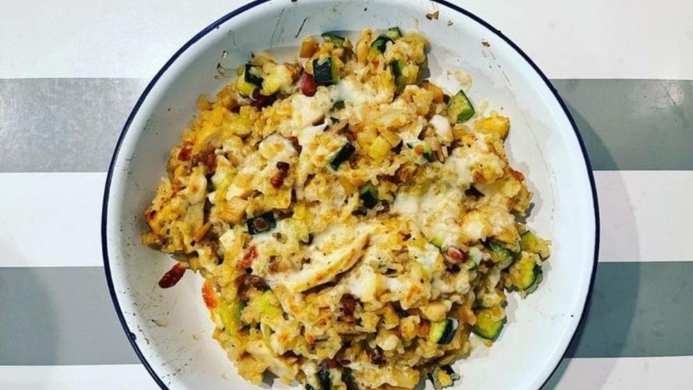 Creamy Chicken Casserole Shirataki Rice