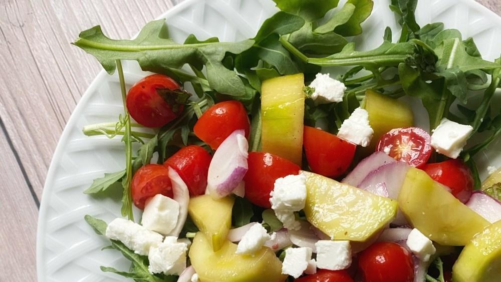 cucumber tomato mint salad