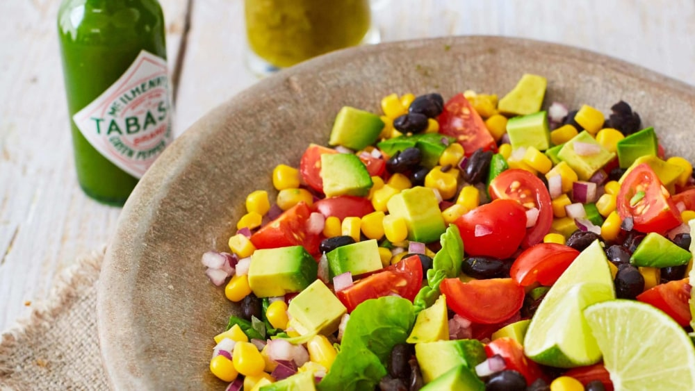 Image of BLACK BEAN SUMMER SALAD WITH LIME ZING DRESSING