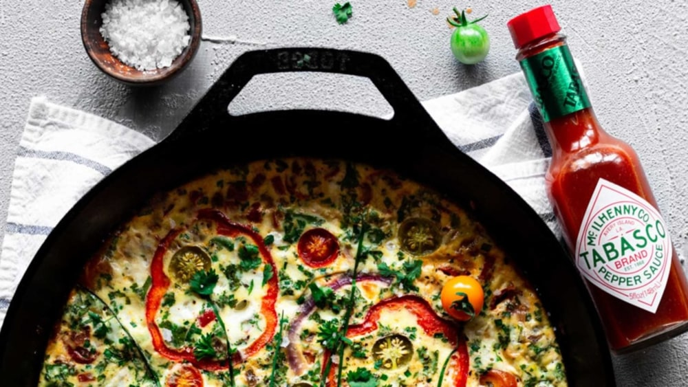Image of HERBY RED BELL PEPPER BAKED FRITTATA