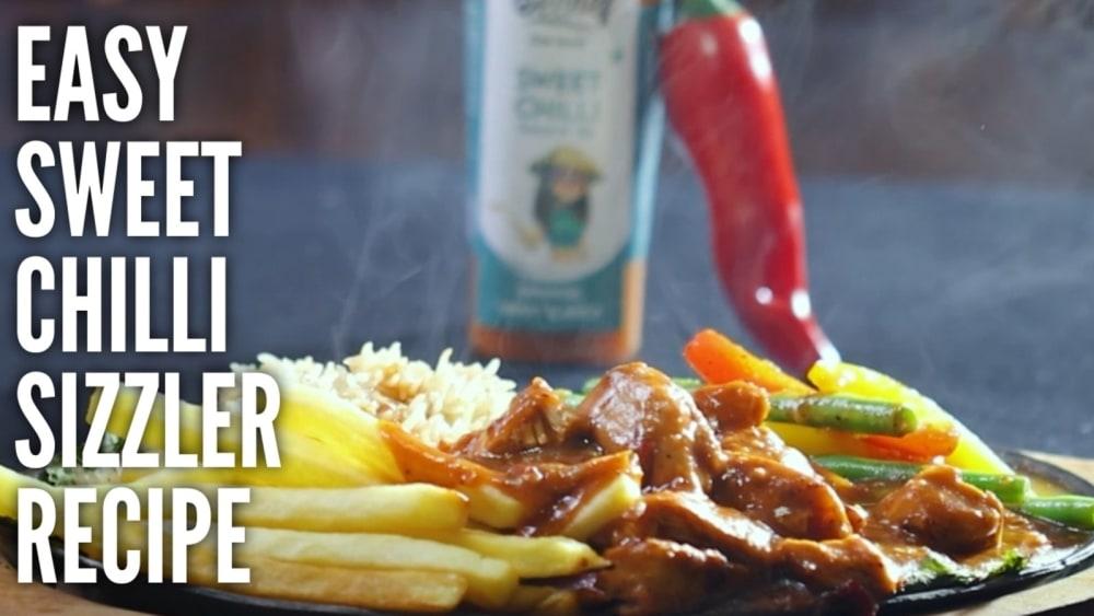 Image of Sweet Chilli Chicken Sizzler: Restaurant style sizzler:रेस्टोरेंट से बी ज़्यादा टेस्टी सीज़्ज़लेर अब घर