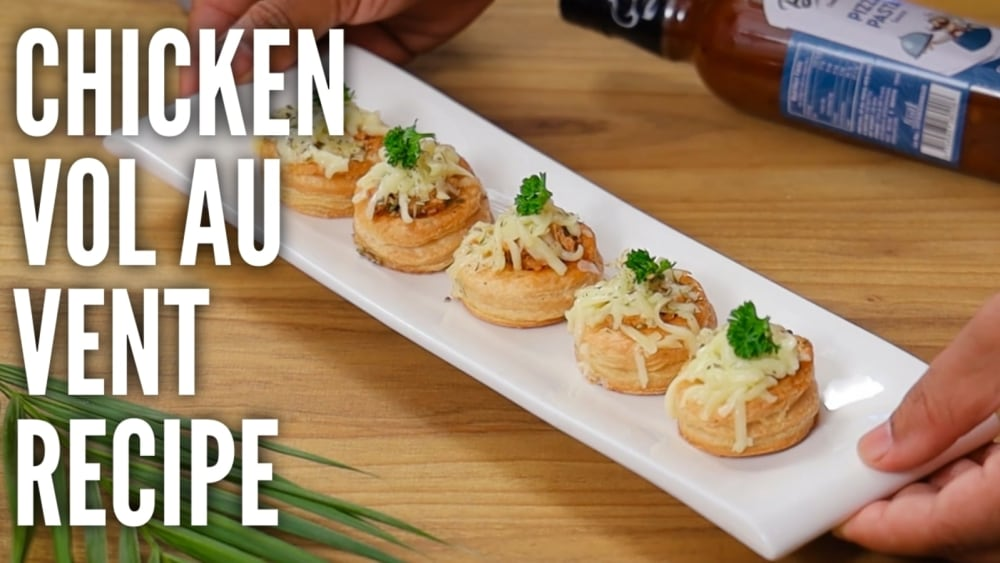 Image of Pizza Pasta Chicken Vol Au Vent | Easy to cook at home in 10 mins