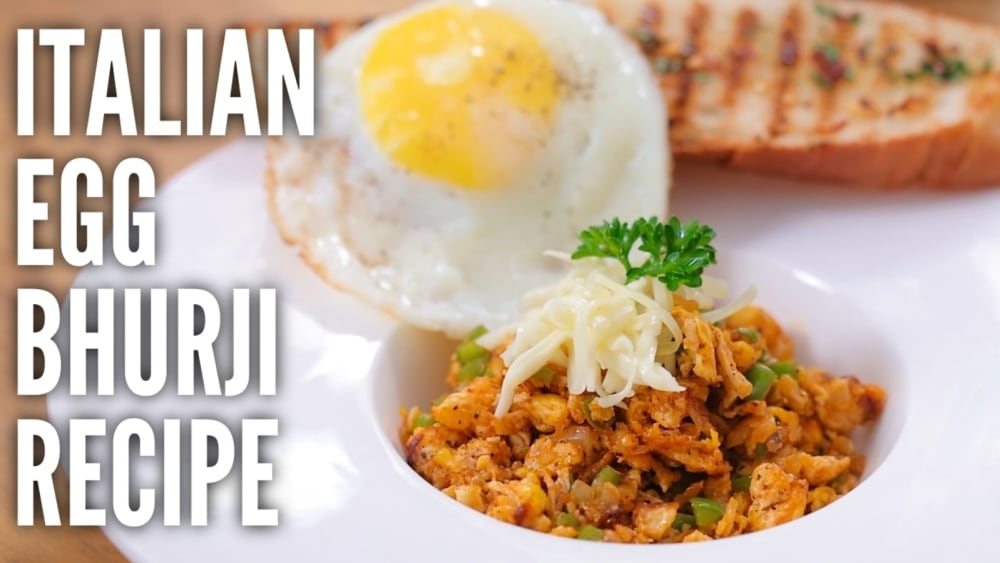 Image of Italian Egg Bhurji : Zayka Italy ka!