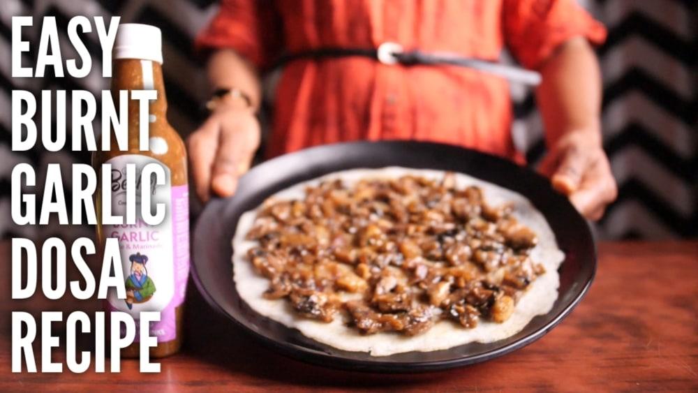 Image of Burnt Garlic Mushroom Dosa : Indo-Chinese Fusion ka kamaal!!