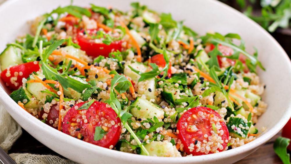 Image ofHemp-Infused Heirloom Tomato, Cucumber & Quinoa Salad