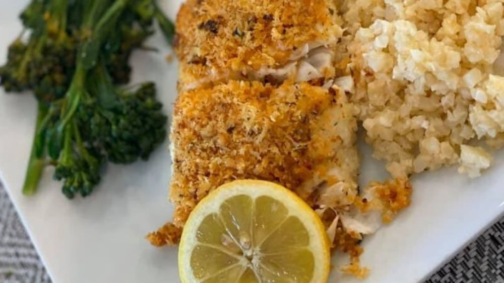 Image ofChili Onion Crunch-Crusted Halibut