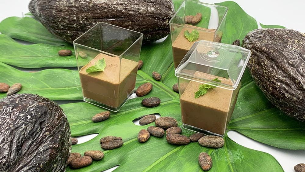 Image of Eggless (Vegan) Chocolate Cream Pudding