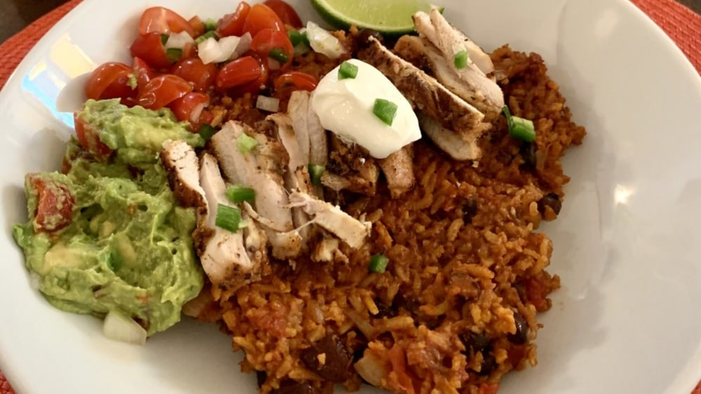 Image ofMexican-Style Brown Rice and Bean Bowl Recipe