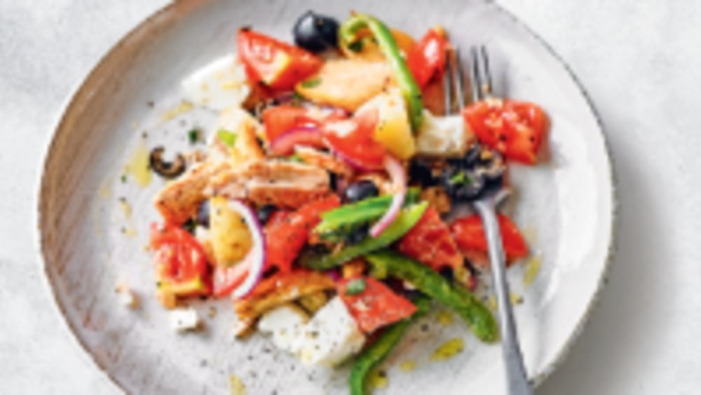 Image ofHot tuna, Greek feta & potato salad
