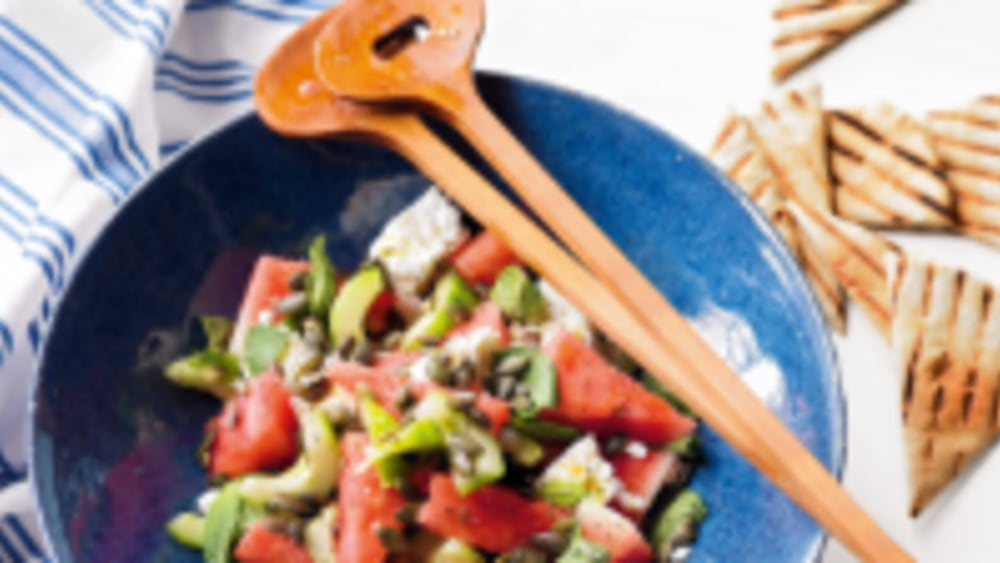 Image ofWatermelon and feta salad