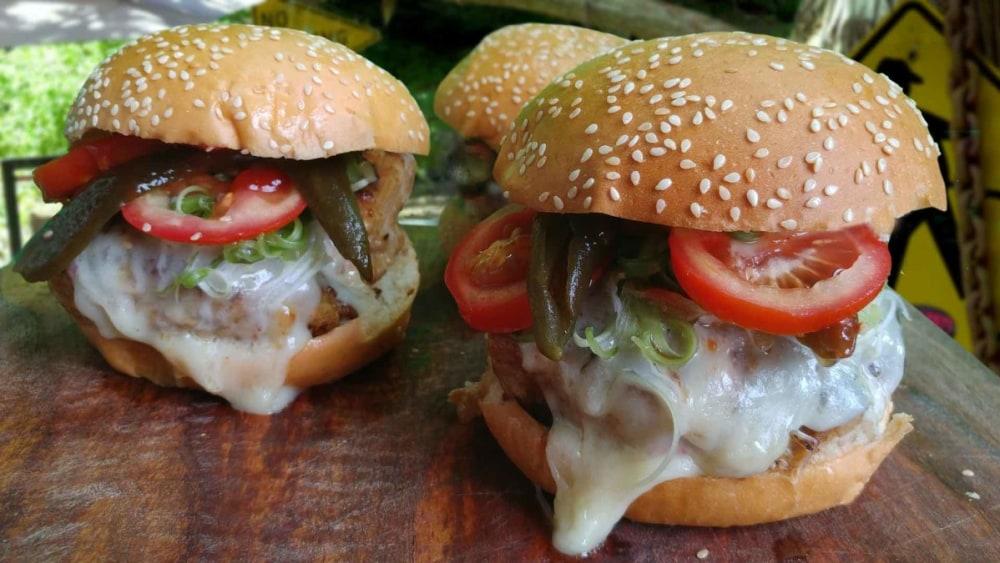 Image of Pork 'n Bean Chili Cheeseburger