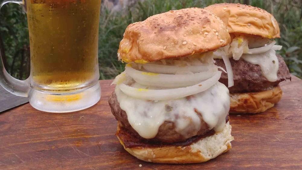 Image of Beer Steamed Cheeseburgers