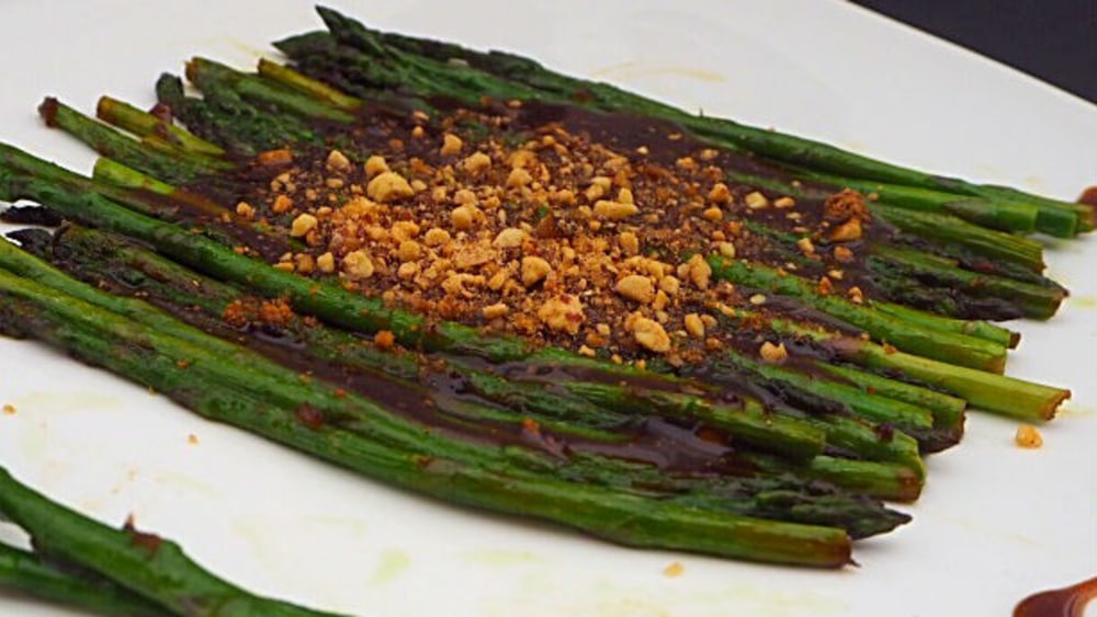 Image ofPanfried Asparagus with Tamarind Chutney